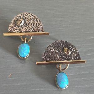 Jewelry - Fire Opal Sterling Silver Earrings